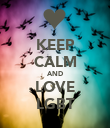 KEEP CALM AND LOVE LGBT - Personalised Poster large