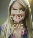 KEEP CALM AND LOVE LIA <3 - Personalised Poster large