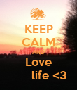 KEEP CALM AND Love       life <3 - Personalised Poster large
