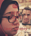 KEEP CALM AND Love Linty 7abebty - Personalised Poster large