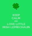 KEEP CALM AND LOVE LITTLE IRISH LEPRECHAUN - Personalised Poster large
