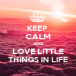 KEEP  CALM AND LOVE LITTLE THINGS IN LIFE - Personalised Poster large