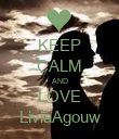 KEEP CALM AND LOVE LiviaAgouw - Personalised Poster large
