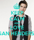 KEEP CALM AND LOVE lOGAN HENDERSON - Personalised Poster small