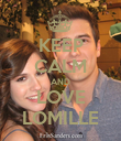 KEEP CALM AND LOVE LOMILLE - Personalised Poster large