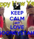 KEEP CALM AND LOVE lOONEYSTAH - Personalised Poster large