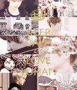 KEEP CALM AND LOVE LUHAN - Personalised Poster large