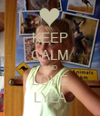 KEEP CALM AND LOVE LYLA - Personalised Poster large