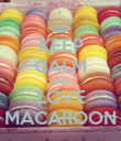 KEEP CALM AND LOVE MACAROON - Personalised Poster large