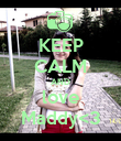 KEEP CALM AND love Maddy<3 - Personalised Poster large