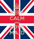 KEEP CALM AND LOVE MAJD - Personalised Poster large