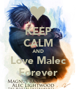 KEEP CALM AND Love Malec Forever - Personalised Poster large