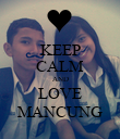 KEEP CALM AND LOVE MANCUNG - Personalised Poster large