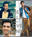 KEEP CALM AND LOVE MANIK - Personalised Poster large