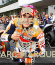 KEEP CALM AND LOVE MARC MARQUEZ - Personalised Poster large