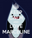 KEEP CALM AND LOVE MARCELINE - Personalised Poster large