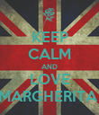KEEP CALM AND LOVE MARGHERITA  - Personalised Poster large