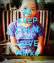 KEEP CALM AND LOVE Marka - Personalised Poster large