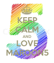 KEEP CALM AND LOVE MAROON5 - Personalised Poster large