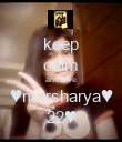 keep calm and love ♥marsharya♥ 22♥ - Personalised Poster large