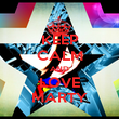 KEEP CALM AND LOVE MARTY - Personalised Poster large