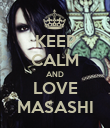 KEEP CALM AND LOVE MASASHI - Personalised Poster large