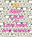 KEEP CALM AND Love math  And science - Personalised Poster large