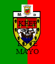 KEEP CALM AND LOVE MAYO - Personalised Poster large