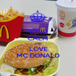 KEEP CALM AND LOVE MC DONALD - Personalised Poster large