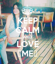 KEEP CALM AND LOVE ♡ME♡ - Personalised Poster large