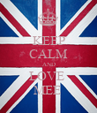 KEEP CALM AND LOVE  MEE  - Personalised Poster large