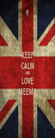 KEEP CALM AND LOVE MEEMA - Personalised Poster large