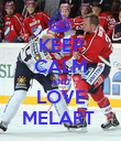 KEEP CALM AND LOVE MELART  - Personalised Poster large