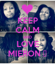 KEEP CALM AND LOVE MIERON ♥ - Personalised Poster large