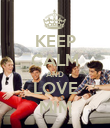 KEEP CALM AND LOVE MIM - Personalised Poster large
