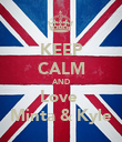 KEEP CALM AND Love  Minta & Kyle - Personalised Poster large