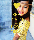 KEEP CALM and  LOVE  MISSY ! - Personalised Poster large