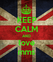 KEEP CALM AND love mms - Personalised Poster large