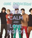 KEEP CALM AND LOVE MOFOS - Personalised Poster large