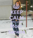 KEEP CALM AND LOVE Moni  Saneva - Personalised Poster large