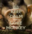 KEEP CALM AND LOVE MONKEY - Personalised Poster large