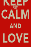 KEEP CALM AND LOVE Mr.RIDDLES - Personalised Poster large