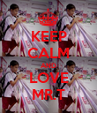 KEEP CALM AND LOVE MR.T - Personalised Poster large