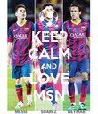 KEEP CALM AND LOVE MSN - Personalised Poster small