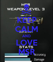 KEEP CALM AND LOVE MSR - Personalised Poster large