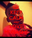 KEEP CALM AND LOVE MUNASHE - Personalised Poster large