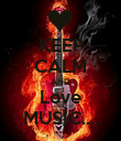 KEEP CALM AND Love MUSIC.... - Personalised Poster large