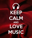 KEEP CALM AND LOVE MUSIC - Personalised Large Wall Decal