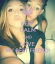 KEEP CALM AND LOVE MY BEST FRIEND! - Personalised Poster large