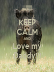 KEEP CALM AND Love my Daddy!!! - Personalised Poster small